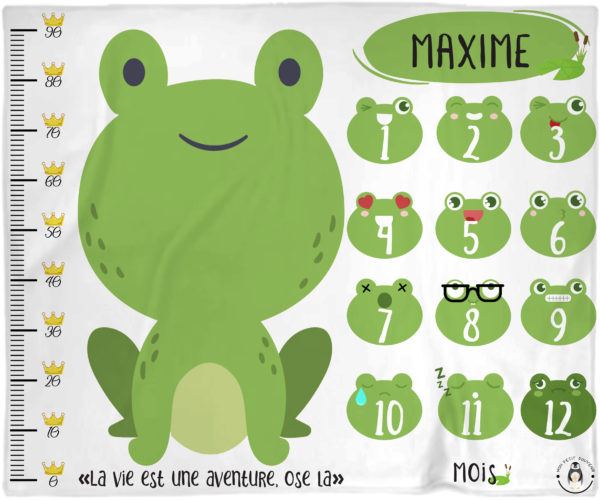couverture bébé grenouille